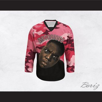 Notorious B.I.G. 21 Pink Camouflage Hockey Jersey