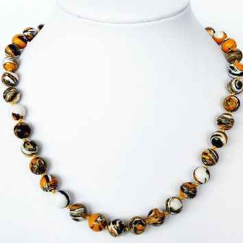 Charms 10mm multicolor yellow chrysocolla stone semi-precious calaite round beads necklace hot sale vintage jewels 18inch MY5183