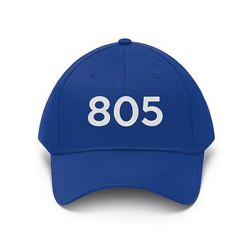 California 805 Area Code Embroidered Twill Hat