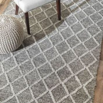 Rugs USA Trinket Diamond Trellis Flatwoven Grey Rug