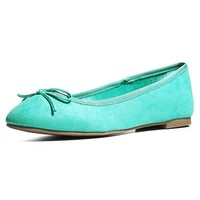 MagicPieces Women's Faux Suede Flat Shoes with Bowtie Detail 041815 CDP 0705