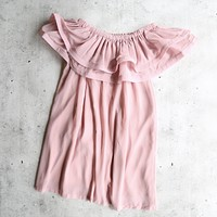 reverse - frilled to pieces - off the shoulder dress - more colors