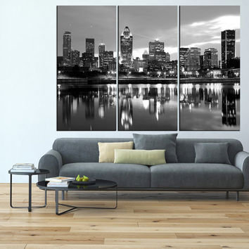 Montreal Canvas Print, extra large wall art print, montreal art, Montreal print Montreal skyline canvas art t552