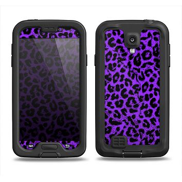 The Vibrant Violet Leopard Print Samsung Galaxy S4 LifeProof Fre Case Skin Set