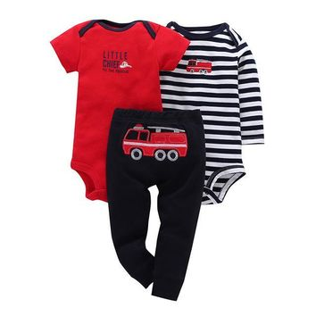Red and Black Matching 3pc Baby Set