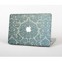 """The Subtle Green Lace Pattern Skin Set for the Apple MacBook Pro 13"""" with Retina Display"""