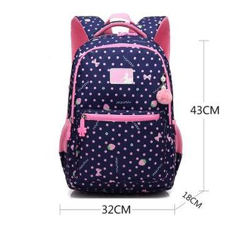 School Backpack Ruipai children's backpack sweet pink print girl's  new multicolor waterproof backpack students school bags AT_48_3