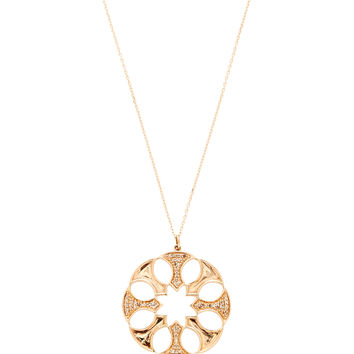 Sydney Evan Women's Rose Gold & Champagne Diamond Axe Head Pendant Necklace