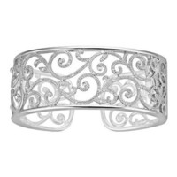 1/5 ct. tw. Diamond Cuff Swirl Bracelet in Sterling Silver