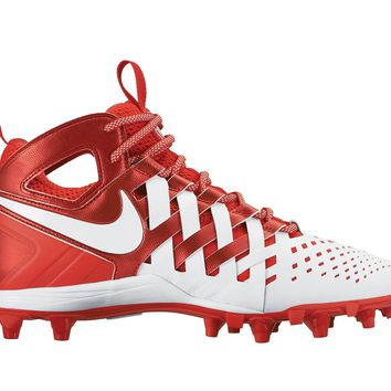 Nike Huarache 5 Lacrosse Cleats - White/Red | Lacrosse Unlimited