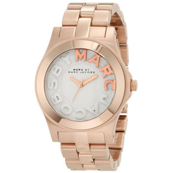 Marc by Marc Jacobs MBM3135 Women's Rivera White Dial Rose Gold Tone Stainless Steel Bracelet Watch