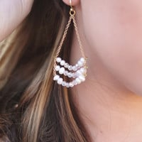 Be Forever Earrings (Pearl)