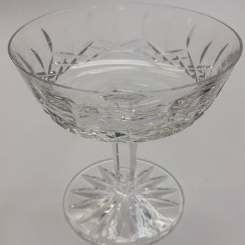Signed Waterford cut glass Lismore dessert
