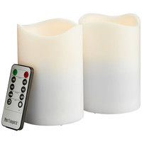 Outdoor LED Pillar Set - 3x4 White