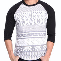 Native Print Raglan Tee by Asphalt Yacht Club