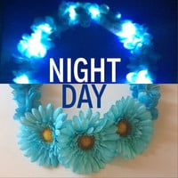 LED Flower Crown | With Larger flowers | Light Up Headband for EDM edc raves / music festivals