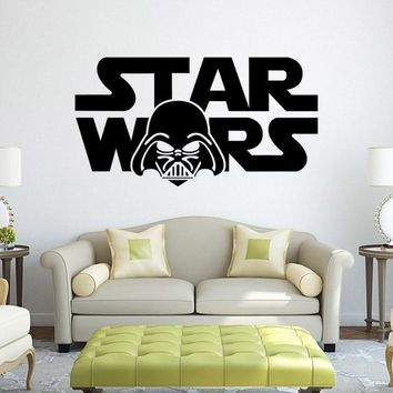 Star Wars Force Episode 1 2 3 4 5 *   cartoon movie hero characters living room bedroom kids room wall stickers removable waterproof home decor new year AT_72_6