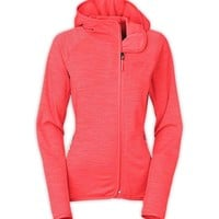 The North Face Arcata Full Zip Hoodie for Women in Tropical Coral Stria CUU0-GDW