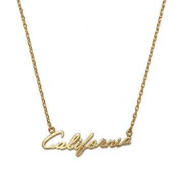 California Script Pendant Necklace