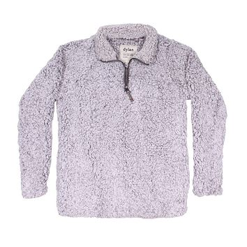 Frosty Tipped Women's Stadium Pullover in Heather by True Grit (Dylan) - FINAL SALE