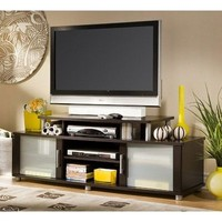 South Shore Furniture City Life Collection TV Stand, Chocolate