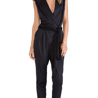 LaPina by David Helwani Eve Jumpsuit in Black