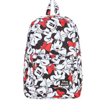 Loungefly Disney Minnie Mouse Face Print Backpack
