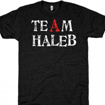 Team Haleb-Unisex Athletic Black T-Shirt