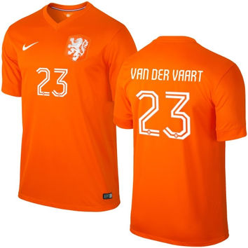 Van Der Vaart #23 Holland Nike Youth 2014 World Soccer Replica Home Jersey - Orange - http://www.shareasale.com/m-pr.cfm?merchantID=7124&userID=1042934&productID=548697480 / Netherlands