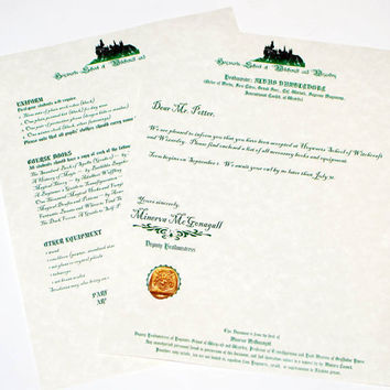 New Hogwarts Acceptance letter and supply list by DiagonAlley