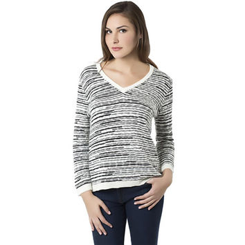 TheKorner Womens Knit V-Neck Pullover Sweater