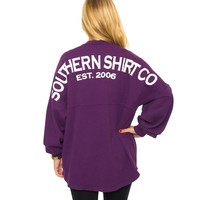 Crewneck Jersey Pullover Grape