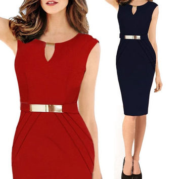 Sexy Women Summer Business Party Cocktail Evening Pencil Dress Dresses Hot = 1946752772