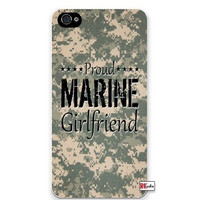 Premium Direct Print Proud Marine Girlfriend United States USA Camo iphone 6 Quality Hard Snap On Case for iphone 6/Apple iphone 6 - AT&T Sprint Verizon - White Case PLUS Bonus RCGRafix The Best Iphone Business Productivity Apps Review Guide