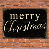 Wooden Merry Christmas sign.  Handmade.  Approx. 12.5 x 18.5 x .75 inches Merry Christmas plaques Christmas gifts Christmas wall decor