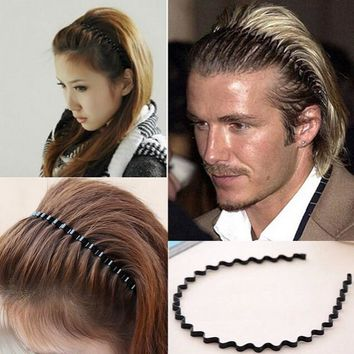 Men Women Unisex Black Wavy Hair jewelry Accessories Head Hoop Band Sport Headband Hairband Hairpins Styling Tools free shipping