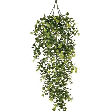 """Plastic Outdoor Boxwood and Berry Hanging Bush - 32"""" Long"""
