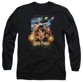Harry Potter - Movie Poster Long Sleeve Adult 18/1 Officially Licensed Shirt