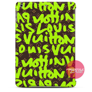 Louis Vuitton LV Paris Graffiti Lime iPad Case 2, 3, 4, Air, Mini Cover