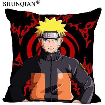 Naruto Sasauke ninja Best Cartoon  Anime Pillowcase Wedding Decorative Pillow Cover Custom Gift For (Two Sides) Printed Pillow Cases A8.15 AT_81_8