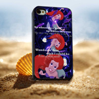 The Little Mermaid Ariel 3 Quotes - for iPhone 4/4s, iPhone 5/5S/5C, Samsung S3 i9300, Samsung S4 i9500 *ENERGICFRESH*