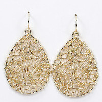 Gold Fashion Metal Earrings