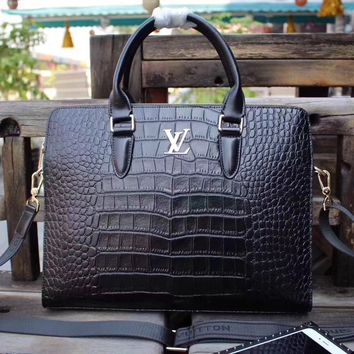 LV Louis Vuitton MEN'S NEW STYLE LEATHER BRIEFCASE BAG