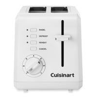 Cuisinart® White Compact Cool-Touch 2-Slice Toaster