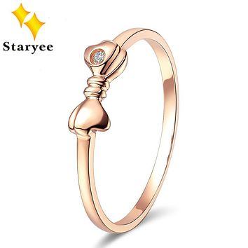 Luxury Jewelry Real 18K Solid Rose Gold Au750 Engagement Rings Bands For Women Wedding Diamond 0.01CT VS H Gift Free Engraving