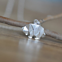 Origami Bear Necklace in Sterling Silver 925, Silver Bear, Silver Polar Bear, Origami Animal Jewelry, Origami Jewelry, Jamber Jewels 925