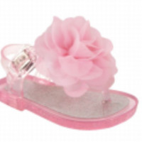 Baby & Toddler Pink Jelly Sandal with Flower