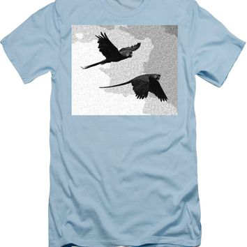 Parrots Drawing - Men's T-Shirt (Athletic Fit)