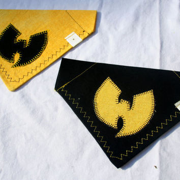 Wu-Tang Clan Black and Yellow Dog Bandana