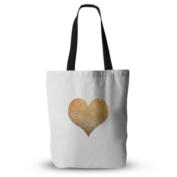 "Suzanne Carter ""Gold Heart"" Glam Everything Tote Bag"